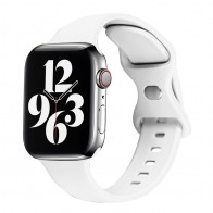 Mobiq - Siliconen Apple Watch Bandje 38/40 mm Donkerblauw 01
