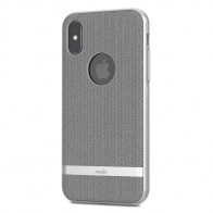 Moshi Vesta iPhone X Herringbone Gray - 1