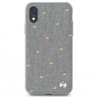 Moshi Overture Wallet Hoes iPhone XR Grijs 01