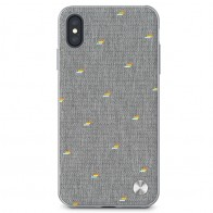 Moshi Vesta iPhone XS Max Hoesje Pebble Grey 01