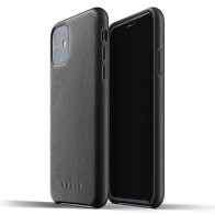 Mujjo Full Leather Case iPhone 11 zwart - 1