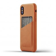 Mujjo - Full Leather Wallet Case iPhone X/Xs Tan 01