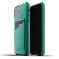 Mujjo Full Leather Wallet iPhone 11 Pro alpine green - 1