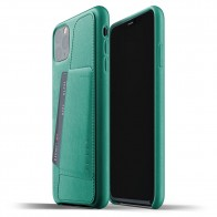 Mujjo Full Leather Wallet iPhone 11 Pro Max alpine green - 1