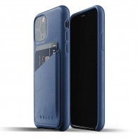 Mujjo Full Leather Wallet iPhone 11 Pro monaco blue - 1