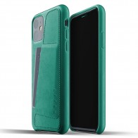 Mujjo Full Leather Wallet iPhone 11 alpine green - 1