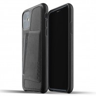 Mujjo Full Leather Wallet iPhone 11 zwart - 1