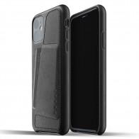 Mujjo Full Leather Wallet iPhone 11 zwart - 1