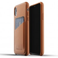 Mujjo Lederen iPhone XR Wallet Case Tan Bruin 01