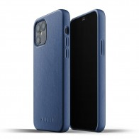 Mujjo Leather Case iPhone 12 / iPhone 12 Pro 6.1 Blauw - 1