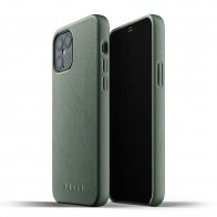 Mujjo Leather Case iPhone 12 / iPhone 12 Pro 6.1 Groen - 1