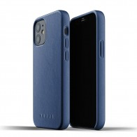 Mujjo Leather Case iPhone 12 Mini Blauw - 1