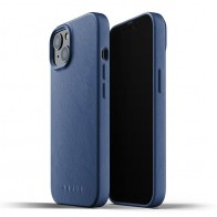 Mujjo Leather Case iPhone 13 Blauw - 1