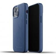 Mujjo Leather Case iPhone 13 Mini Blauw - 1