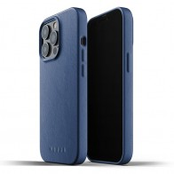 Mujjo Leather Case iPhone 13 Pro Blauw - 1