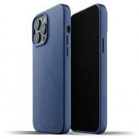 Mujjo Leather Case iPhone 13 Pro Max Blauw - 1
