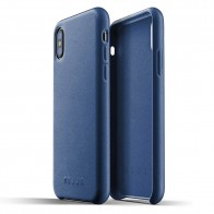 Mujjo - Full Leather Case iPhone X/Xs Blauw - 1