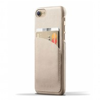 Mujjo - Leather Wallet Case iPhone 8/7 champagne 01