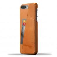 Mujjo Leather Wallet Case iPhone 7 Plus Tan 01