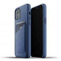 Mujjo Leather Wallet iPhone 12 / iPhone 12 Pro 6.1 Blauw - 1