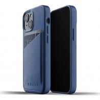 Mujjo Leather Wallet iPhone 13 Mini Blauw - 1