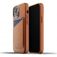 Mujjo Leather Wallet iPhone 13 Mini Bruin - 1