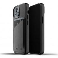 Mujjo Leather Wallet iPhone 13 Mini Zwart - 1