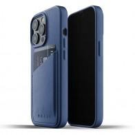 Mujjo Leather Wallet iPhone 13 Pro Blauw - 1