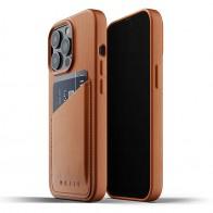 Mujjo Leather Wallet iPhone 13 Pro Bruin - 1