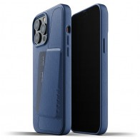 Mujjo Leather Wallet iPhone 13 Pro Max Blauw - 1