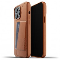 Mujjo Leather Wallet iPhone 13 Pro Max Bruin - 1