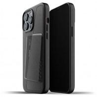 Mujjo Leather Wallet iPhone 13 Pro Max Zwart - 1