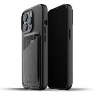 Mujjo Leather Wallet iPhone 13 Pro Zwart - 1