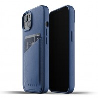 Mujjo Leather Wallet iPhone 13 Blauw - 1