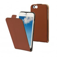 Muvit Slim Flip Case iPhone 6 Brown - 1