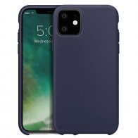 Xqisit Siliconen iPhone 11 Hoesje Blauw - 1