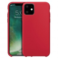 Xqisit Siliconen iPhone 11 Hoesje Rood - 1