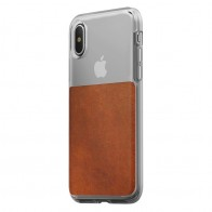 Nomad Clear Leather Case iPhone X Bruin - 1