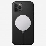 Nomad Leather MagSafe Case iPhone 12 / 12 Pro Zwart - 1