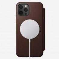 Nomad Leather MagSafe Folio iPhone 12 / 12 Pro 6.1 Bruin - 1