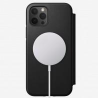 Nomad Leather MagSafe Folio iPhone 12 / 12 Pro 6.1 Zwart - 1
