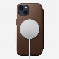 Nomad Rugged MagSafe Folio iPhone 13 Mini Donkerbruin 01