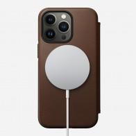 Nomad Rugged MagSafe Folio iPhone 13 Pro Donkerbruin 01