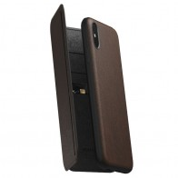 Nomad Rugged Tri-Folio Leather Case iPhone XS Max Bruin 01