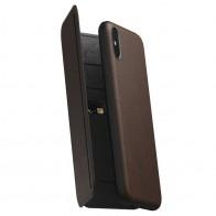 Nomad Rugged Tri-Folio Leather Case iPhone XS Max Bruin 01