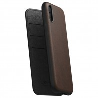 Nomad Leather Folio iPhone XR Bruin 01