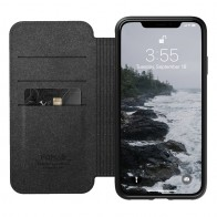 Nomad Leather Folio iPhone XS Max Zwart 03