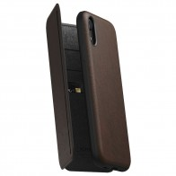 Nomad Tri-Folio Lederen Wallet iPhone XR Bruin 01
