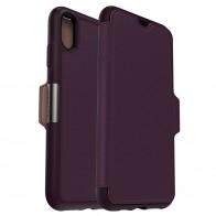 Otterbox Strada Lederen iPhone XR Folio Hoes Royale Purple Paars 01