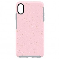 Otterbox Symmetry iPhone XS Max Hoesje On Fleck Roze 01